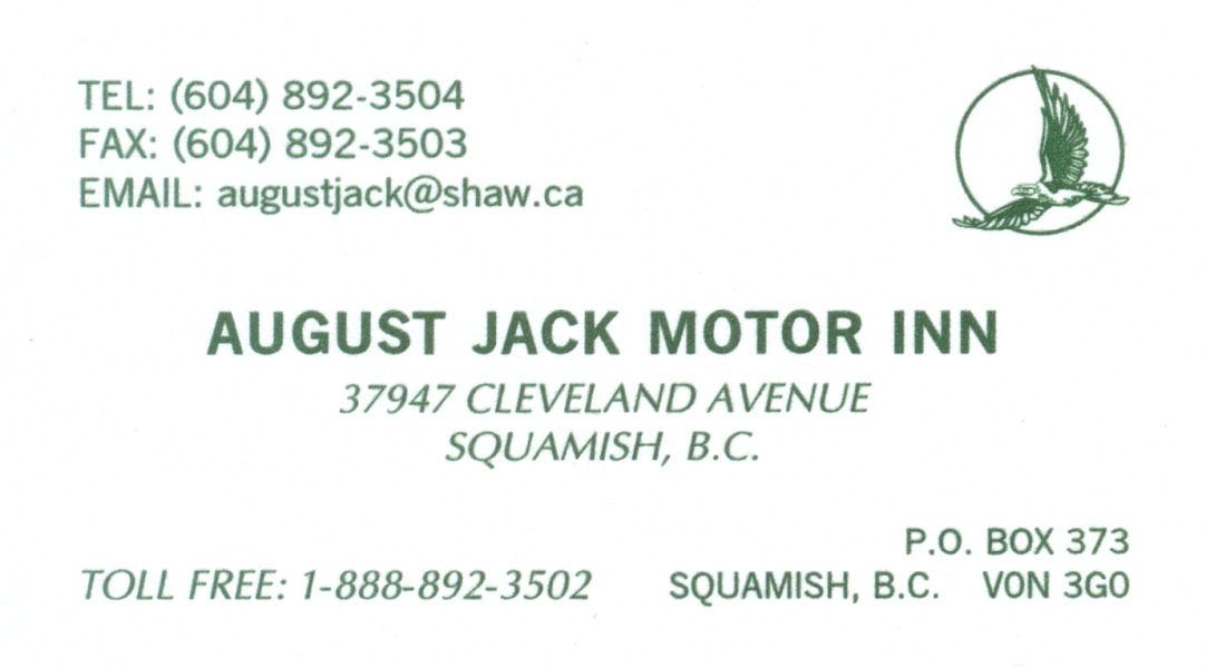 August Jack Motor Inn Squamish British Columbia Canada