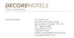 Page g n rale du canada for Decore hotel jasper